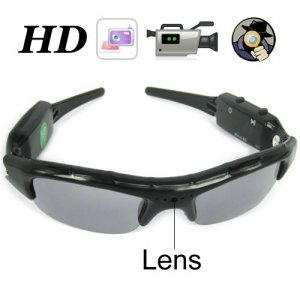 Sunglasses Eyewear DVR with 5.0MP Hidden Lens and 2GB Memory + TF Card Slot